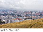 Красноярск. Вид с караульной горы (2008 год). Стоковое фото, фотограф Parmenov Pavel / Фотобанк Лори