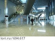 Купить «Холл современного здания», фото № 694617, снято 23 февраля 2008 г. (c) Литова Наталья / Фотобанк Лори