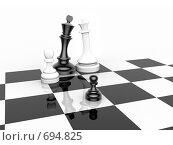 Купить «Шахматная концепция - семейная зарисовка», иллюстрация № 694825 (c) Михаил Белков / Фотобанк Лори