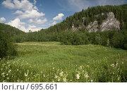 Купить «Уральский пейзаж, рядом с рекой Вишера», фото № 695661, снято 12 июля 2008 г. (c) Максим Стриганов / Фотобанк Лори