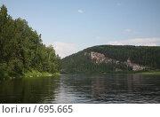"""Купить «Скала, похожая на """"Титаник""""», фото № 695665, снято 13 июля 2008 г. (c) Максим Стриганов / Фотобанк Лори"""
