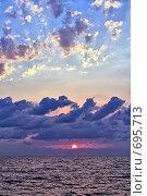 Купить «Вечерние облака над морем», фото № 695713, снято 30 августа 2008 г. (c) Владимир Сергеев / Фотобанк Лори