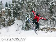 Купить «Сноубордист, прыжок», фото № 695777, снято 1 февраля 2009 г. (c) Tatiana / Фотобанк Лори