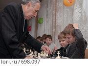 Купить «Сеанс одновременной игры», фото № 698097, снято 10 октября 2008 г. (c) Игорь Бунцевич / Фотобанк Лори