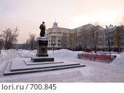 Купить «Памятник Пушкину, площадь Пушкина, Кемерово», фото № 700845, снято 11 февраля 2009 г. (c) Михаил Павлов / Фотобанк Лори