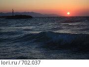 Купить «Закат над морем», эксклюзивное фото № 702037, снято 8 августа 2008 г. (c) Яна Королёва / Фотобанк Лори