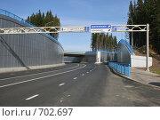 Транспортная развязка г. Ханты-Мансийск (2008 год). Стоковое фото, фотограф Сергей Бахадиров / Фотобанк Лори