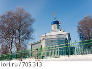 Купить «Церковь за оградой», фото № 705313, снято 1 февраля 2009 г. (c) Шахов Андрей / Фотобанк Лори
