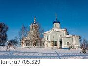 Купить «Церковь зимой. Вид сбоку», фото № 705329, снято 1 февраля 2009 г. (c) Шахов Андрей / Фотобанк Лори