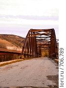 Заброшенный мост через реку Сок в г. Самара (2008 год). Стоковое фото, фотограф Возмилова Светлана / Фотобанк Лори