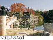 Купить «Мост перед внешними воротами Замка Белой Цапли Сиросагидзё. Япония», фото № 707821, снято 24 ноября 2007 г. (c) Просенкова Светлана / Фотобанк Лори