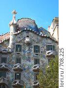 Купить «Барселона. Дом Каса Батльо (Casa Battlo) архитектора Антонио Гауди», фото № 708225, снято 15 сентября 2008 г. (c) АЛЕКСАНДР МИХЕИЧЕВ / Фотобанк Лори