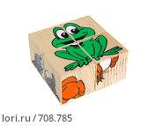 Купить «Детские деревянные кубики на белом фоне», эксклюзивное фото № 708785, снято 18 января 2009 г. (c) Juliya Shumskaya / Blue Bear Studio / Фотобанк Лори