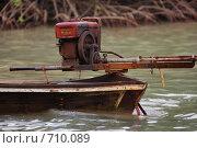 Тайская лодка. Двигатель (2009 год). Стоковое фото, фотограф Китаев Олег Александрович / Фотобанк Лори