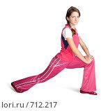 Девушка занимается гимнастикой. Стоковое фото, фотограф Яков Филимонов / Фотобанк Лори