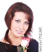 Купить «Девушка с розой», фото № 712241, снято 21 января 2009 г. (c) Насыров Руслан / Фотобанк Лори
