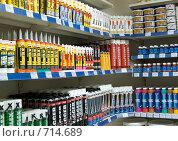 Купить «Строительные материалы-интерьер магазина», фото № 714689, снято 27 января 2009 г. (c) Александр Подшивалов / Фотобанк Лори