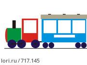 Рамка для фотографий (поезд) Стоковая иллюстрация, иллюстратор Марина Кириленко / Фотобанк Лори