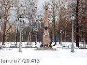 Купить «Место дуэли А.С. Пушкина. Санкт-Петербург», фото № 720413, снято 22 февраля 2009 г. (c) Татьяна Дигурян / Фотобанк Лори