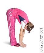 Девушка в розовом занимается гимнастикой. Стоковое фото, фотограф Яков Филимонов / Фотобанк Лори