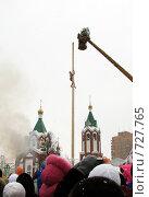 Купить «Масленица. Покорение столба.», фото № 727765, снято 28 февраля 2009 г. (c) Кардаполова Наталья / Фотобанк Лори