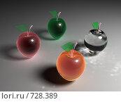 Стеклянные яблоки вид сверху. Стоковая иллюстрация, иллюстратор Николай Казаков / Фотобанк Лори