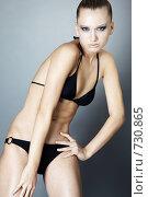 Купить «Сексуальная девушка в купальнике», фото № 730865, снято 28 января 2009 г. (c) Serg Zastavkin / Фотобанк Лори