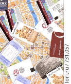 Купить «Карта Рима и билеты в музеи, в метро и на электричку», фото № 731057, снято 3 марта 2009 г. (c) Маргарита Лир / Фотобанк Лори