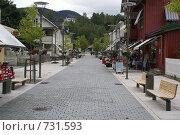 Улица норвежской деревни (2008 год). Редакционное фото, фотограф Эдуард Финовский / Фотобанк Лори