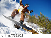 Купить «Сноубордист в полёте», фото № 733921, снято 20 февраля 2009 г. (c) Александр Тимофеев / Фотобанк Лори