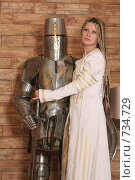 Купить «Девушка в рыцарском замке», фото № 734729, снято 8 февраля 2009 г. (c) Евгений Батраков / Фотобанк Лори