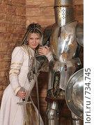 Купить «Девушка в рыцарском замке», фото № 734745, снято 8 февраля 2009 г. (c) Евгений Батраков / Фотобанк Лори