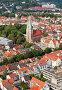 Типичный европейский город с высоты птичьего полета. Ульм, Германия, фото № 735909, снято 19 августа 2007 г. (c) Александр Телеснюк / Фотобанк Лори