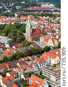 Купить «Типичный европейский город с высоты птичьего полета. Ульм, Германия», фото № 735909, снято 19 августа 2007 г. (c) Александр Телеснюк / Фотобанк Лори