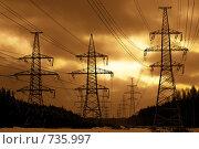 Линия электропередачи. Стоковое фото, фотограф Константин Хрипунков / Фотобанк Лори