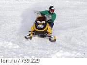 Купить «Гонки на снегоходах», фото № 739229, снято 7 марта 2009 г. (c) Сергей Бахадиров / Фотобанк Лори