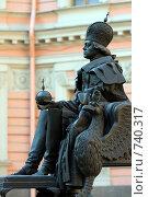 Купить «Фрагмент памятника Павлу 1. Инженерный замок», фото № 740317, снято 7 марта 2009 г. (c) Nikiandr / Фотобанк Лори