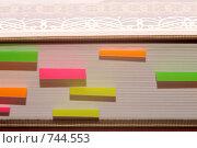 Купить «Book and book-marks, книга и заметки в ней», фото № 744553, снято 10 марта 2009 г. (c) Алифиренко Виталий / Фотобанк Лори