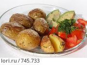 Купить «Печеный картофель с овощами», фото № 745733, снято 11 марта 2009 г. (c) Людмила Травина / Фотобанк Лори