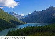 Купить «Горное озеро Кучерлинское, Алтай», фото № 746589, снято 29 июля 2008 г. (c) Max Toporsky / Фотобанк Лори