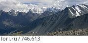Купить «Панорама гор Алтая, вид на Белуху», фото № 746613, снято 6 июля 2020 г. (c) Max Toporsky / Фотобанк Лори