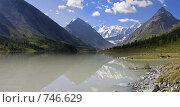 Купить «Панорама Аккемского озера, вид на Белуху. Алтай, Россия», фото № 746629, снято 29 мая 2020 г. (c) Max Toporsky / Фотобанк Лори
