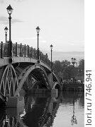Царицыно. Мост на остров. (2008 год). Редакционное фото, фотограф Дарья Суворова / Фотобанк Лори