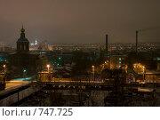 Тула. Город ночью. Центральная часть, вид на площадь Ленина. (2009 год). Стоковое фото, фотограф Владимир / Фотобанк Лори