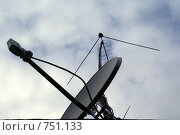 Спутниковая антенна. Стоковое фото, фотограф Дмитрий Жеглов / Фотобанк Лори