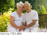 Купить «Портрет пожилой пары в саду», фото № 751489, снято 12 июля 2008 г. (c) Алексей Кузнецов / Фотобанк Лори