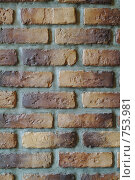 Купить «Кирпичная стена», фото № 753981, снято 12 ноября 2019 г. (c) Лямзин Дмитрий / Фотобанк Лори