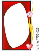 Купить «Креативная красная рамка», иллюстрация № 755025 (c) Алексей Лебедев-Реллер / Фотобанк Лори
