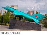 Купить «Саратов. Парк Победы. Самолет Як-38», фото № 755381, снято 14 июля 2007 г. (c) Андрей Первеев / Фотобанк Лори