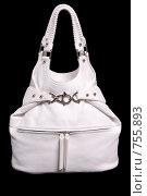 Купить «Белая сумка на черном фоне», фото № 755893, снято 10 мая 2007 г. (c) Илья Лиманов / Фотобанк Лори